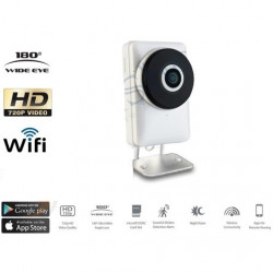 TELECAMERA IP CAM 1 MPX 720P WIRELESS WIFI REGISTRA MICRO SD WIDE EYE 180 GRADI