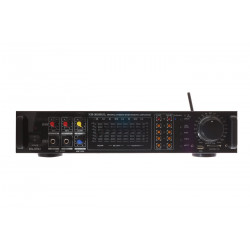 AMPLIFICATORE AUDIO STEREO 2 CANALI USB SD MP3 REMOTE CONTROL KARAOKE 3 MIC K3
