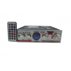 AMPLIFICATORE AUDIO STEREO MP3 USB SD CARD RADIO FM 200W 2 INGRESSI RCA