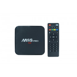 ANDROID TV BOX INTERNET TV SMART TV HDMI WI-FI HD 4K M8S PRO