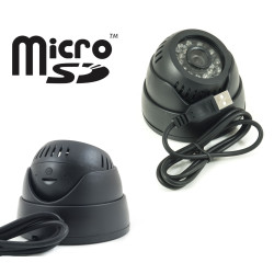 TELECAMERA DOME DVR 24 LED IR REGISTRA MICRO SD USB