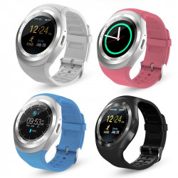 Smart Watch Y1 1,2 pollici Bluetooth Android iOS con slot SIM Card e Micro SD
