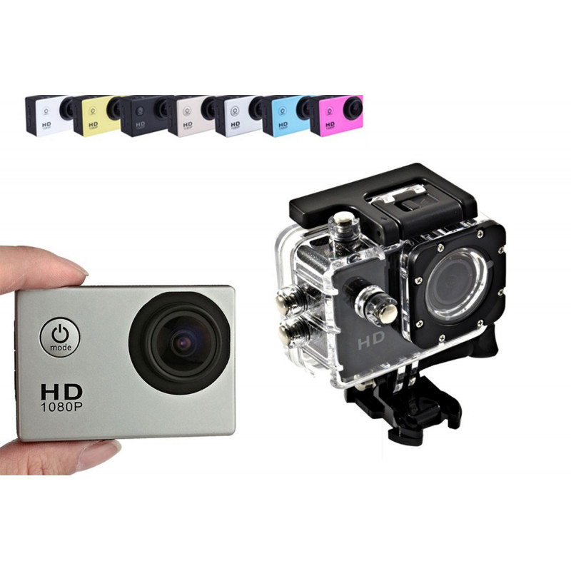 FOTOCAMERA VIDEOCAMERA SPORT HD 1080P KIT ACCESSORI ACTION CAMERA IMPERMEABILE
