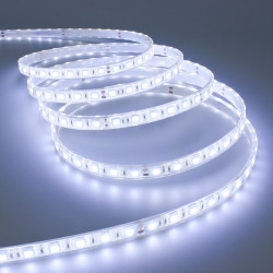 STRISCIA A LUCE LED BIANCA FREDDA SMD 5050 STRIP 5 METRI 300 LED IMPERMEABILE