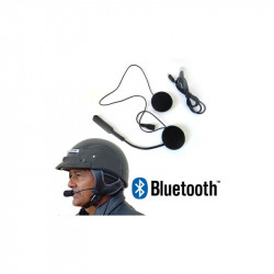 HEADSET MICROFONO AURICOLARE BLUETOOTH IMPERMEABILE PER CASCO MOTO SCOOTER MP3