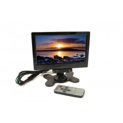 MONITOR LCD 7 HDMI HD AV 2 INGRESSI VIDEO STAFFA SUPPORTO TELECOMANDO