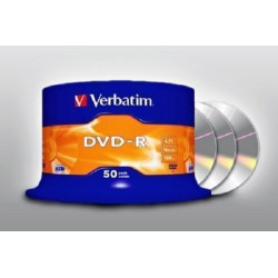 50 DVD -R VERBATIM VERGINI VUOTI 16X Advanced Azo dvdr 4.7 GB