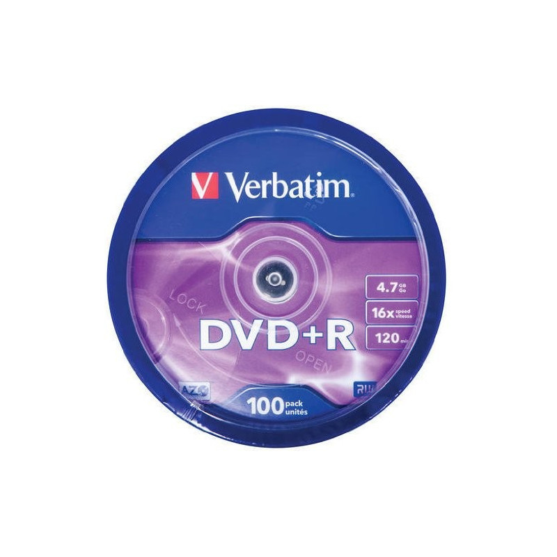 200 DVD -R VERBATIM VERGINI VUOTI 16X Advanced Azo dvdr 4.7 GB f02