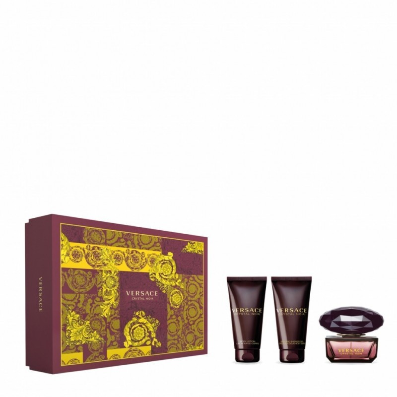 Versace - Crystal Noir Kit Eau De Toilette 50ml + Lozione Corpo 50 Ml + Gel Doccia 50ml