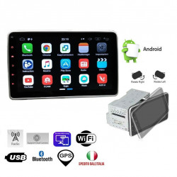 STEREO ANDROID 10 POLLICI AUTORADIO 1 DIN 2 DIN BLUETOOTH GPS WIFI TABLET NAVIGA