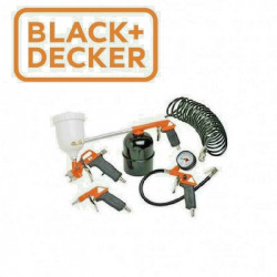 BLACK+DECKER KIT ACCESSORI COMPRESSORE ARIA COMPRESSA AEROGRAFO SET 5 PZ