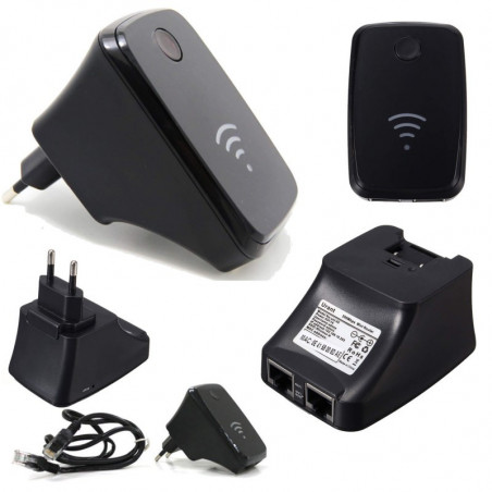 WIRELESS WIFI 300 Mbps ROUTER RIPETITORE 2.4GHZ WPS EXTENDER 802.11N LAN UNT02
