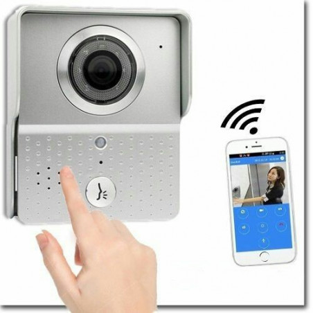 CITOFONO VIDEO CAMPANELLO LED IR LAN WIFI HD CAMERA CHIAMATA REMOTA SMARTPHONE