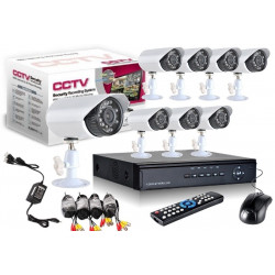 KIT DVR REGISTRATORE  VIDEOSORVEGLIANZA HD