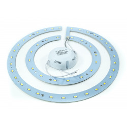 PANNELLO LED KIT CONVERSIONE SMD NEON DOUBLE RING PLAFONIERA LUCE W